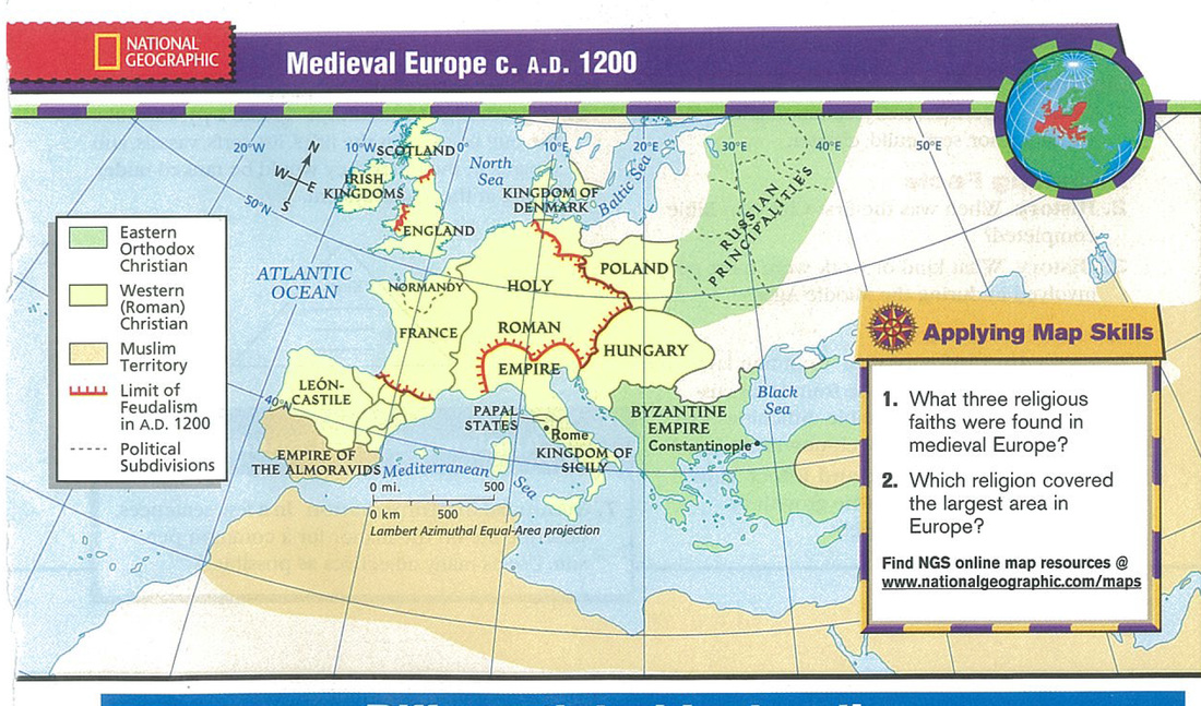Europe Mr Gs Classroom - World religion map by national subdivision
